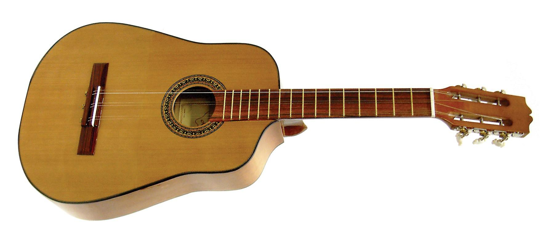 El tres, un instrumento similar a la guitarra característico de la cultura cubana.